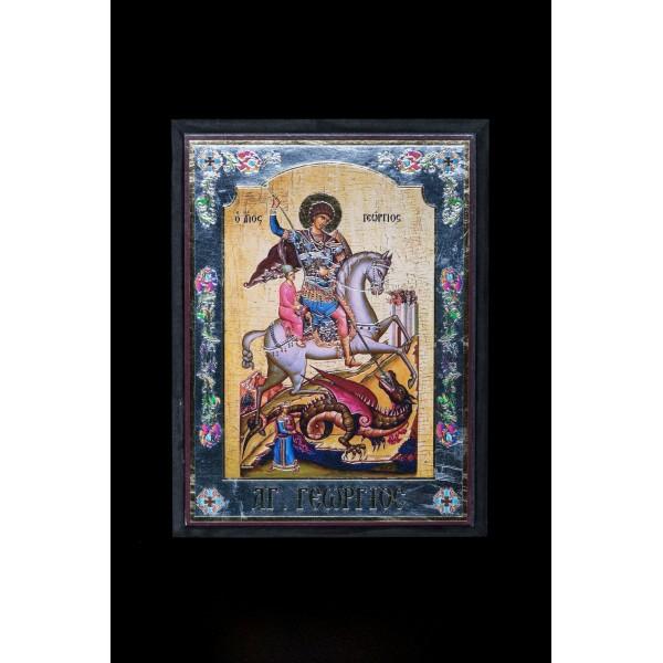 EK17011 ΞΥΛΙΝΗ ΕΙΚΟΝΑ 17cm x 23 cm